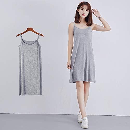 Vestidos de Verano Vestido de Tirantes, Vestido de Tirantes sin Mangas, Camisa de Dormir de algodón para Mujer Camisón camisón: Amazon.es: Jardín