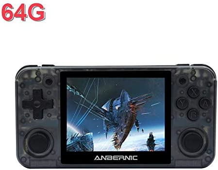 Feileng Handheld Game Console RG350P Retro Game Console Portable Mini Game Controller GamepadTF Card Bulit-in Games 3.5 Inch IPS Screen