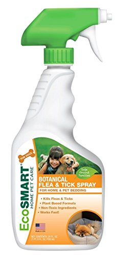 Tick Home Killer Spray (EcoSMART Home and Pet Bedding Flea and Tick Killer in Bottle, Best Pet Safe Insecticide, 24 oz Ready-to-Spray Bottle )