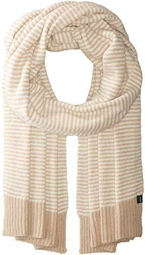 - Echo Women's Soft Stretch Knit Mini Stripe Winter Scarf, oatmeal, One Size