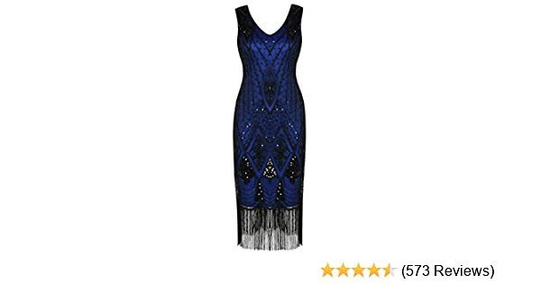 PrettyGuide Women 1920s Gatsby Cocktail Sequin Art Deco Flapper Dress at  Amazon Women s Clothing store  fdd47808976e