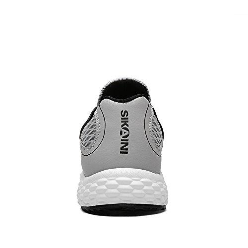 Herbst 000 Sneaker 10 Atmungsaktiven Mens Sikaini Mesh Sport Neue Facebook Grau Schuhe Tennies Outdoor Posten Walking 2017 Schuhe Fußball Serie in Multisport Trainer Summer qAOHwO