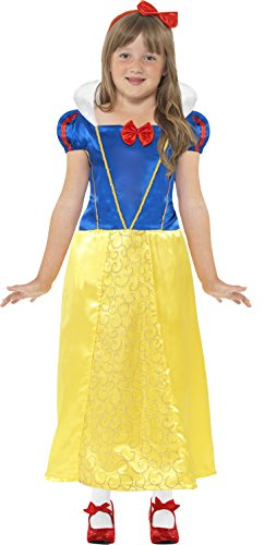 [Snow Princess Costume, Small Age 4-6, Girls Fancy Dress, Snow White] (Storybook Costumes Australia)