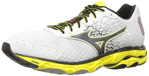 Mizuno Men's Wave Inspire 11 Running Shoe,White/Black,10 D...