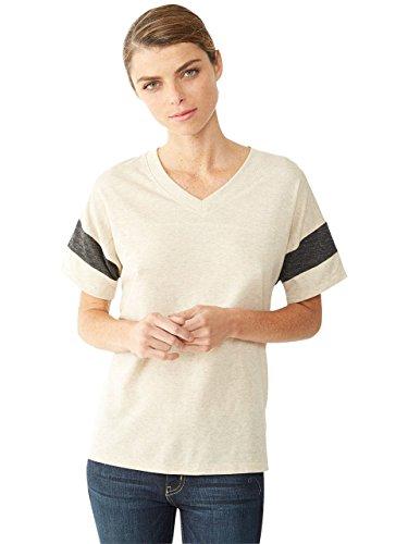 Alternative Womens Powder Puff T-Shirt Large Eco Stone & Eco Black