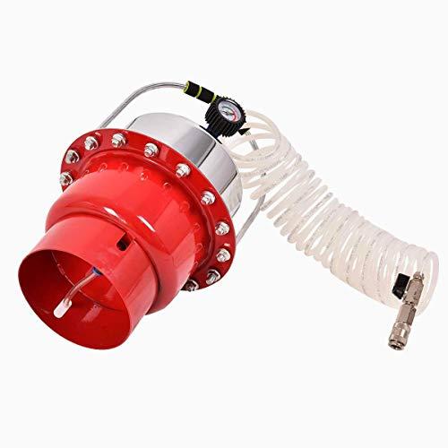 Goplus Pneumatic Air Pressure Brake Bleeding Kit Garage Workshop Mechanics Brake Oil and Fluid Extractor Bleeder Tool w/Case (Red) by Goplus (Image #1)