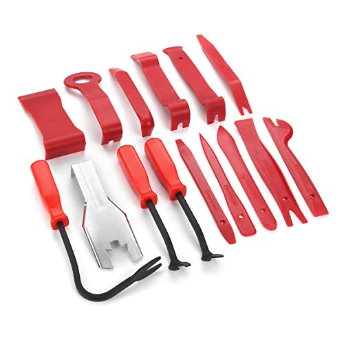 Anddoa 15pcs Meter Door Molding Remover Panel Trim Clip Removal Tools Kit Red Set by Anddoa (Image #3)