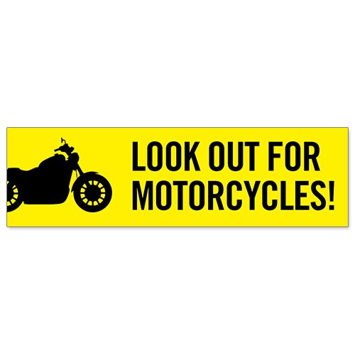 Amazon com car bumper sticker look out for motorcycles office products
