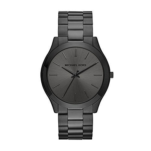 (Michael Kors Men's Slim Runway Black Watch)