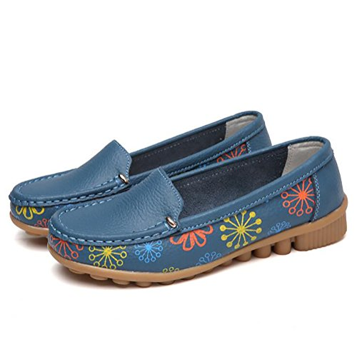 Blue Alta Zapatos Mujeres Sencillo Zapatos Casual UK6 Calidad Único Antideslizante SHANGXIAN US8 Blue Plano EU39 CN39 nvSq0