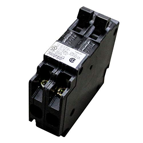 Siemens Parallax Power Components ITEQ3020 30/20A Duplex Circuit Breaker, Black