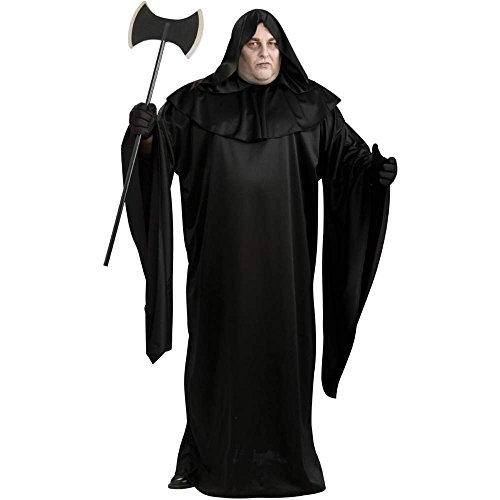 [Full Cut Robe Costume - Plus Size - Chest Size 46-50] (Black Full Cut Robe Costumes)