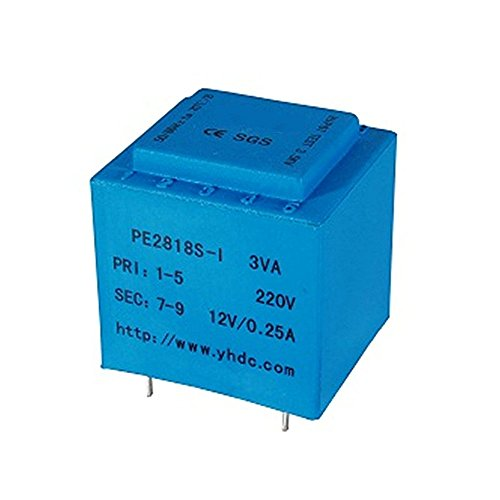 SUPERELE PE2818S-I Power 3VA Input Voltage 220V Output 12V Power Transformer Encapsulated PCB Welding Isolation Transformer 50-60Hz