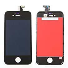iPhone 4S Black Replacement LCD Screen and Digitizer Assembly (Tools Included) - White Box Packaging
