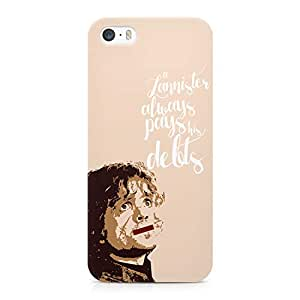 Loud Universe Game of Thrones Tyrion Lannister Pays Modern Wrap Around iPhone SE Case - Beige