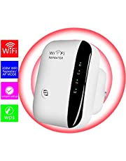 WiFi Extender-Mini WiFi Range Extender,N300 Wireless WiFi Repeater for 2.4GHz Internet WiFi Signal Booster Amplifier 802.11n/b/g Network with Ethernet Cable