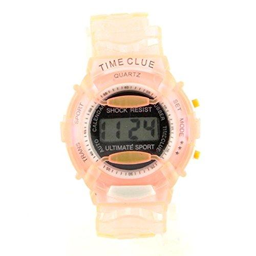 LCD Chrono Anti-Shock Watch for Children and Women