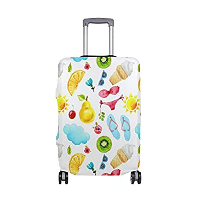 Sannovo Suitcase Cover Cat Animal Print Luggage Case 28 inch for Children