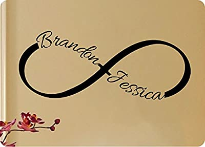 "52"" Personalized Custom Name with Infinity Symbol Love Wall Decal Sticker Art Mural Home Décor Quote Bedroom Marriage"