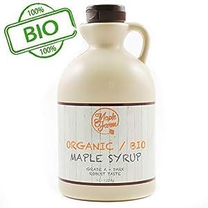Jarabe de arce BIO - Grado A (Dark, Robust taste) - 1 litro