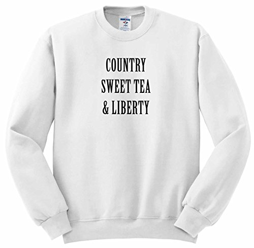 Tea Collection Pullover (Tory Anne Collections Quotes - COUNTRY SWEET TEA AND LIBERTY - Sweatshirts - Adult SweatShirt Medium (ss_243980_2))