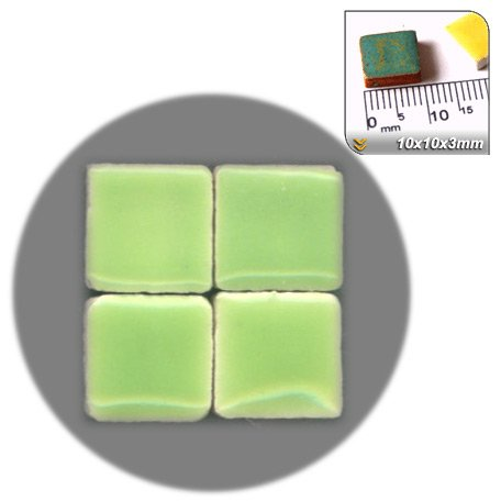Mosaic-Minis(25/64 inch) (10x10x3mm), 250 pieces, Pistachio green, WG04