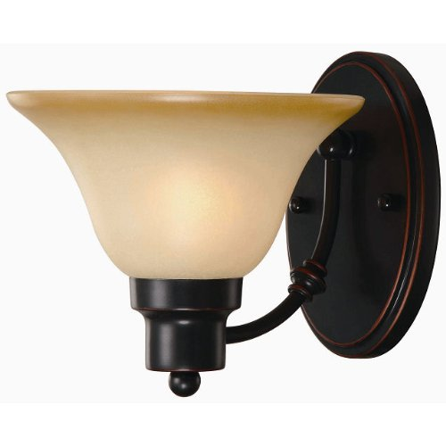 Hardware House Bristol Series 1 Light Oil Rubbed Bronze 7-1/4 Inch by 7-3/4 Inch Bath / Wall Lighting Fixture : 16-7147