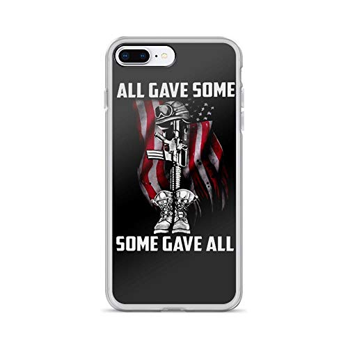 iPhone 7 Plus/8 Plus Pure Clear Case Cases Cover Veteran All Gave Some Some Gave All U.s Flag Motivation Quote