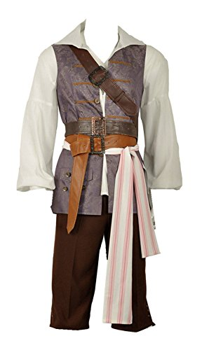 Pirates of The Caribbean Jack Sparrow Shirt Vest Pants for sale  Delivered anywhere in USA