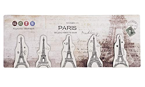 Since1989 Magnetic Bookmarks, Set of 5 (Paris)