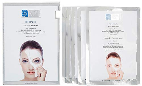 Global Beauty Care Retinol Spa Anti-Aging Treatment Mask Pack of 5 ()