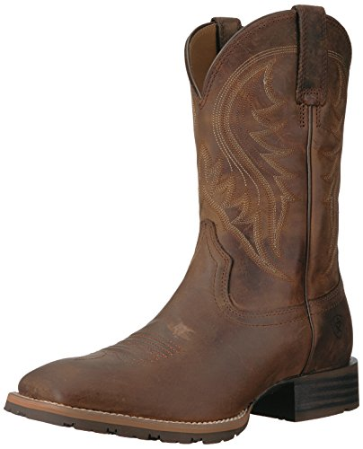 - Ariat Men's Hybrid Rancher Western Boot, Distressed Brown, 10.5 D US