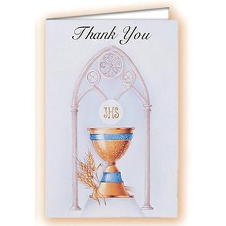 Amazon.com: 8 primera Comunión tarjetas de agradecimiento ...