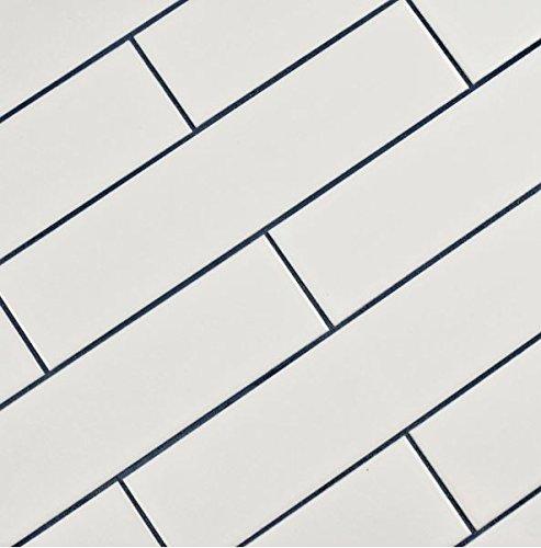 White Porcelain Subway Tile Gloss Finish 2 X 8 12 Box