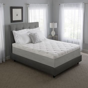 "Novaform 14"" Serafina Pearl Queen Gel Memory Foam Mattress"