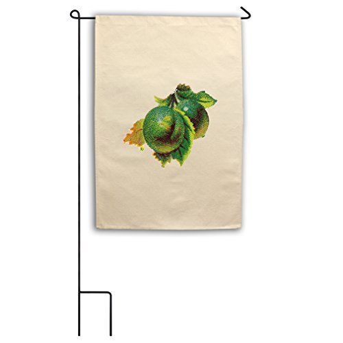 "Style in Print Canvas Yard House Garden Flag 18""X27"" Green F"