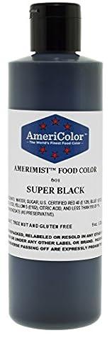 AmeriColor AmeriMist Airbrush Colour - Super Black - 9 oz - 9 Junior Liquid