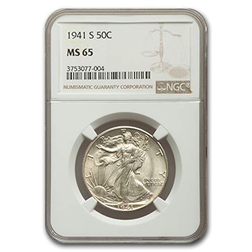 1941 S Walking Liberty Half Dollar MS-65 NGC Half Dollar MS-65 NGC