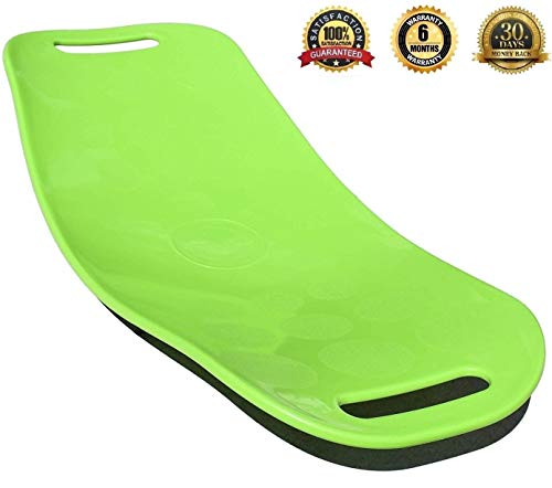 (MADWORKOUT Fit Balance Exercise Board With Twist !!! 100% $ BACK!!!PREMIUM QUALITY GUARANTEED!!! 400 LBs SUPPORT Abs Legs Core Workout !!! (Green))