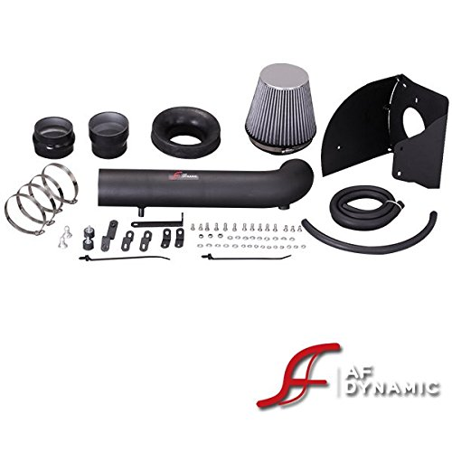 R&L Racing AF Dynamic Black Cold Air Filter Intake Kit Systems with Heat Shield 2012-2016 for Jeep Wrangle JK 3.6L/3.6