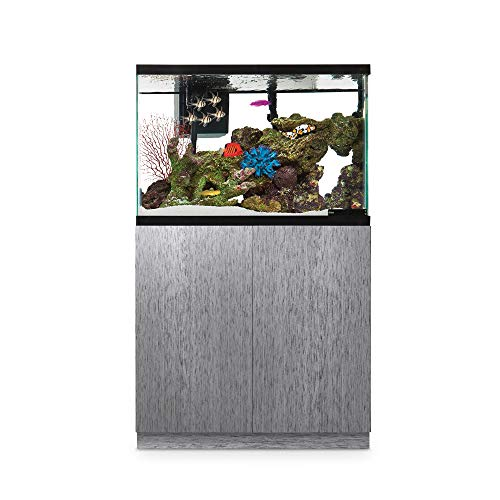 Imagitarium Brushed Steel Look Fish Tank Stand, Up to 40 Gal, 18.25 ()