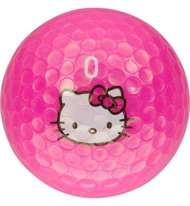 Hello Kitty Golf Pink Pearl Golf Balls – 12 Balls, Outdoor Stuffs