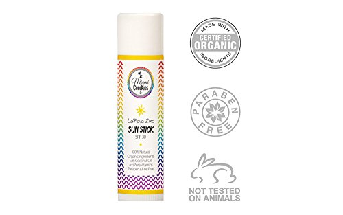 Miami Cool Kids LaPlaya Zinc Organic Sun Stick SPF 30- Kids and Baby Sunscreen SPF 30, Non Nano Zinc Oxide, Natural Childrens Sunscreen ()