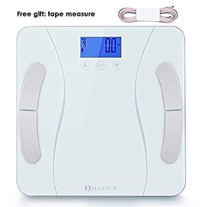 MARNUR Báscula digital Báscula de grasa corporal con sensor de alta precisión BIA técnica de medición