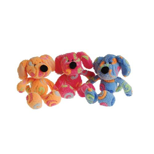 1 Dozen (12) Adorable Plush Rainbow Swirl Puppy Dogs (Approx. 8 In.) / Party / Prize / Favor /Gift by US Toy