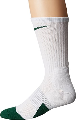 Nike Elite Crew 1.5 Team Basketball Socks Large (Men Size 8-12) White, Green SX7035-104