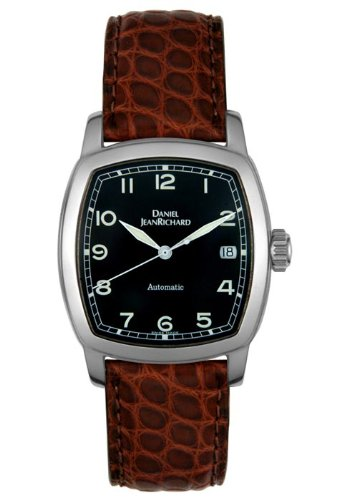 ca80acc7869 Daniel Jean Richard Unisex TV Screen 24006-11-62B-AAEDRND Leather Automatic  Watch with Black Dial  Daniel Jean Richard  Amazon.ca  Watches