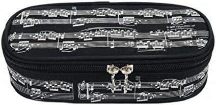Estuche Escolar Lujo Agifty P - 1032 Negro Partituras Blancas: Amazon.es: Instrumentos musicales