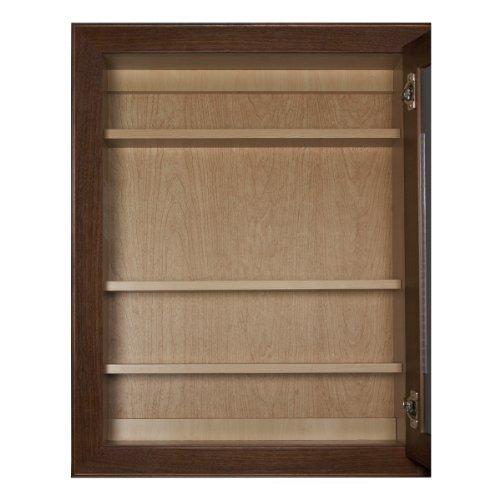 Coastal Collection BTLC-2432 Bostonian Series Red Oak with Honey Oak Finish Lighted Medicine Cabinet, 24-Inch outlet