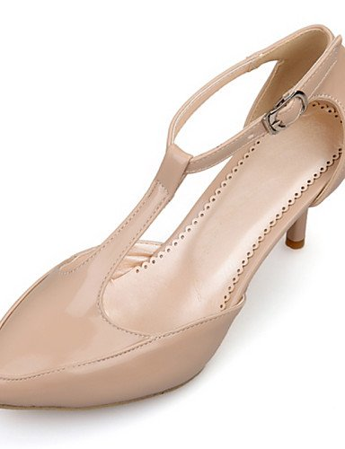LFNLYX Chaussures Femme-Habillé / Décontracté-Noir / Gris / Beige / Bordeaux-Kitten Heel-D'Orsay & Deux Pièces / Bout Pointu-Sandales-Cuir Verni , burgundy , us8.5 / eu39 / uk6.5 / cn40